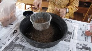 Add local or potting soil, but sift if you use local--no chunks