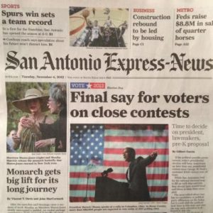 Monarch butterflies make front page news