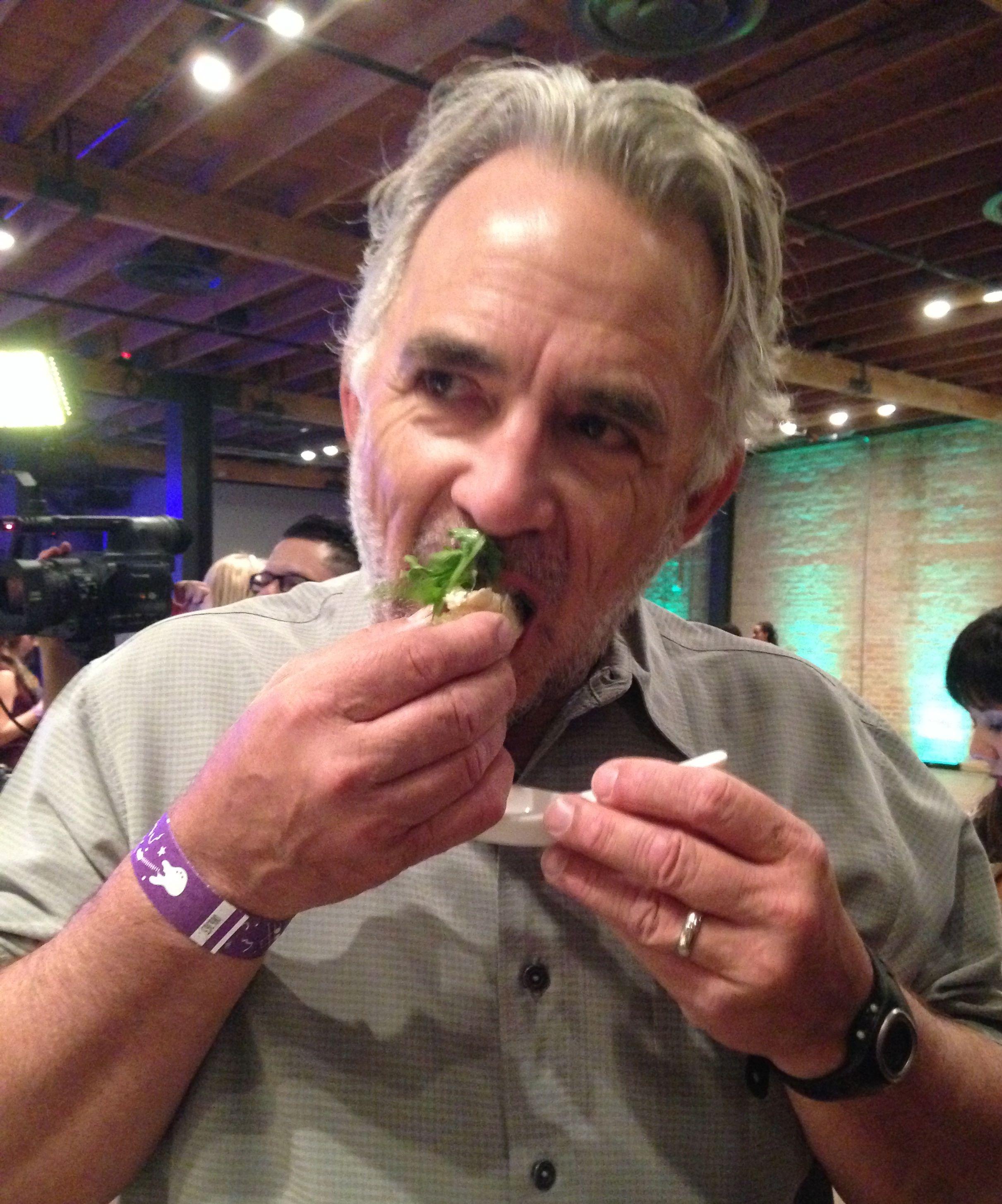 Bob Rivard and cricket polenta