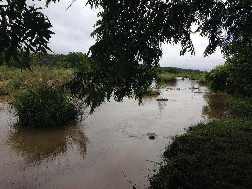 Llano River picnic spot kayak rock