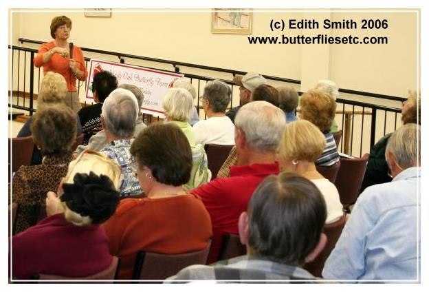 Edith Smith makes her self widely available to answer questions about butterflies. Courtesy photo
