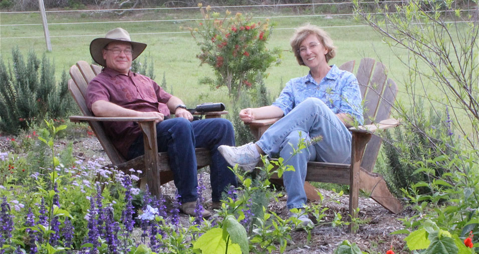 Barbara Dorf and Tracy Villareal, owners of Big Tree Butterfly Farm in Rockport, Texas --Courtesy photo