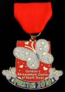 Children Bereavement Center's Fiesta 2016 medal --courtesy photo
