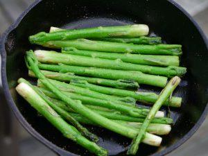 cooked milkweed stalks